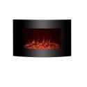 Biocamino 64x40x15 cm NERO con vetro frontale bruciatore da 1,5 litri